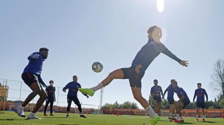 Die Spieler von Atlético Madrid beim Training.