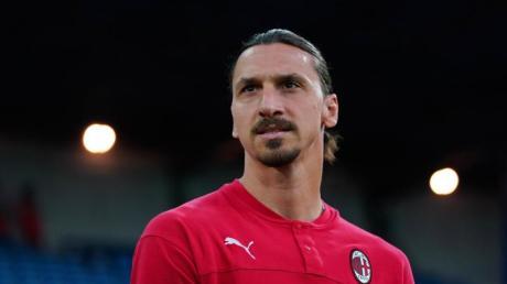 Zlatan Ibrahimovic spielt für AC Mailand in der italienischen Seria A.