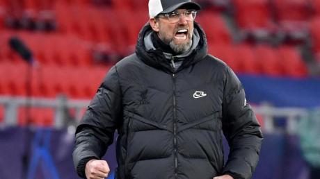 Liverpools Trainer Jürgen Klopp gibt sich kämpferisch.
