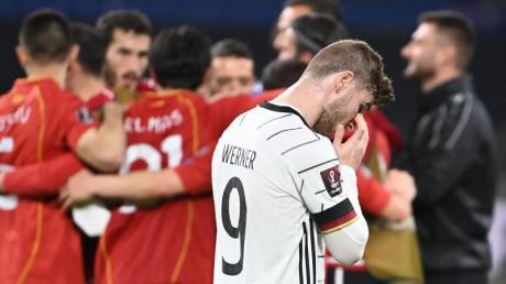 Timo Werner mag nach der DFB-Blamage gegen Nordmazedonien einfach nur wegsehen.