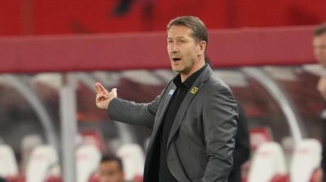 Österreichs Trainer Franco Foda gibt seinen Spielern Anweisungen vom Spielfeldrand aus.