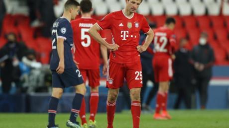 Thomas Müller zeigt sich nach dem Spiel enttäuscht.