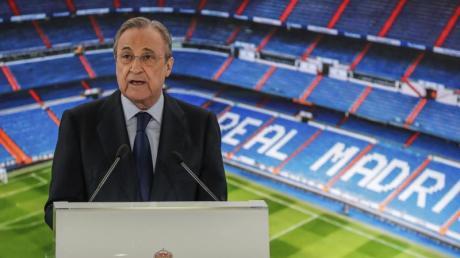 Real-Präsident Florentino Pérez glaubt noch an die Super League.