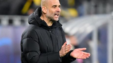 Als Trainer vonManchesterCity steht Guardiola imHalbfinale gegen Paris Saint-Germain.