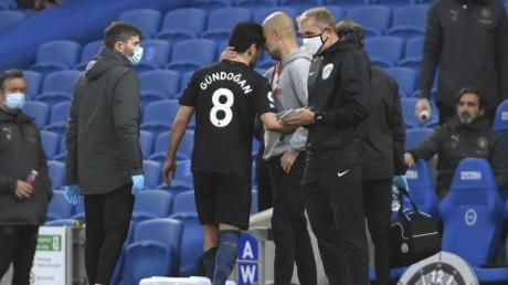 Erfolgreiches Man-City-Duo: Ilkay Gündogan und Trainer Pep Guardiola.