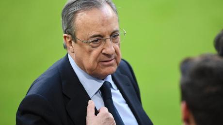 Real Madrids Präsident Florentino Perez bleibt bei seinen Super League-Plänen.
