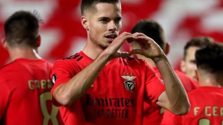 Will wieder ins DFB-Team: Julian Weigl feiert ein Tor für Benfica Lissabon.