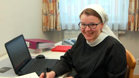 Schwester Mirjam Treffler aus Wessiszell stellt sich in den Dienst der Kirche.
