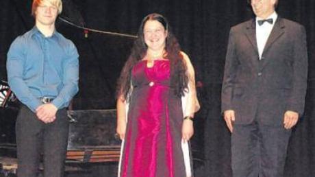Konzert in Ursberg: Dominik Herkommer, Marianne Altstetter-Ederle und Andreas Eberle (von links).