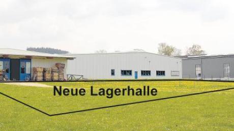 Um die Kapazität ihres Kunststofftechnik-Unternehmens zu erweitern, plant Sabine Bollinger an der Westseite des bestehenden Betriebes eine neue Lagerhalle mit Laderampe.