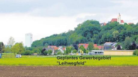 Das geplante Gewerbegebiet Leihwegfeld an der Ortsgrenze zu Burg: Das Landratsamt bemängelte, dass sich das Gebiet nicht in Ortsnähe, sondern weit entfernt von Balzhausen befindet.