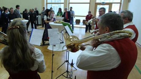 Den Neujahrsempfang der Gemeinde Kammeltal umrahmte das Bläserquartett des Musikvereins Behlingen-Ried musikalisch.