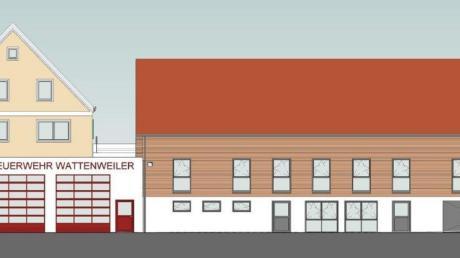 So könnte das neue Feuerwehrhaus Wattenweiler nach der Fertigstellung aussehen.