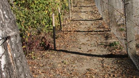 Dieser Fußweg in Langenhaslach soll demnächst saniert werden.