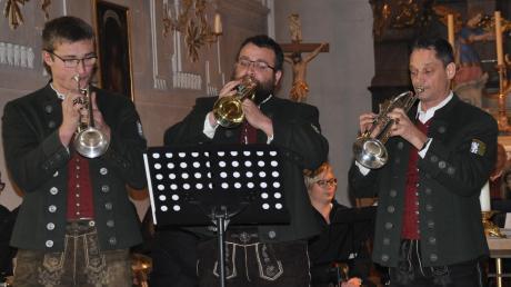 Einen überzeugenden Auftritt hatte das Trompetentrio. (Von rechts) Maximilian Heininger, Nikolaus Kuhn und Thomas Seitz.