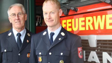 Andreas Schwarz ist seit zwei Jahren Kommandant bei der Freiwilligen Feuerwehr Neuburg. Er beerbte seinen Vater Rudolf, der zuvor 30 Jahr Kommandant war.