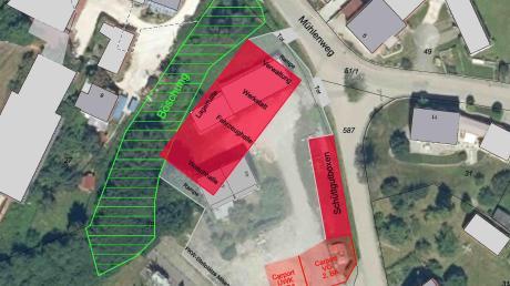 Der gemeinsame Bauhof soll in Breitenthal entstehen. Unser Bild vom Plan zeigt eine Übersicht aus der Vogelperspektive.