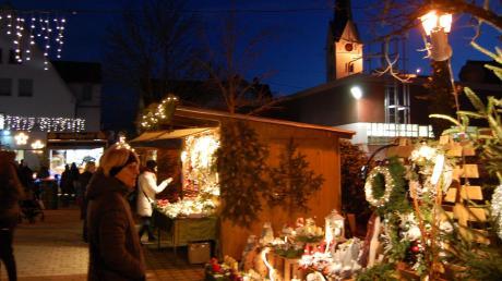 Der Weihnachtsmarkt in Thannhausen ist am Samstag von 17 bis 21 Uhr und am Sonntag von 14 bis 19 Uhr geöffnet. 22 Anbieter verteilen sich in diesem Jahr rund um die Postgasse.