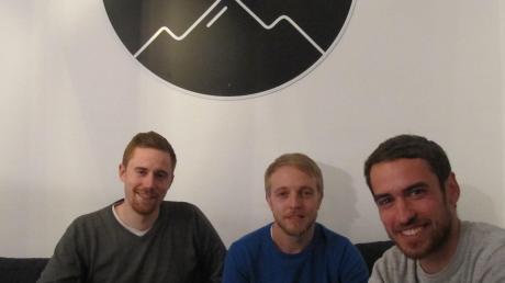 Die drei gleichberechtigten Gesellschafter der Bergauf Media (von links) Julian Hipp, Patrick Hertnagel und Matthias Ott.