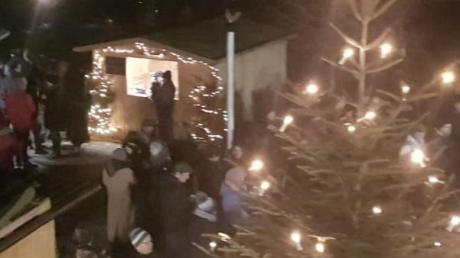 Der Weihnachtsmarkt in Aletshausen war ein voller Erfolg.