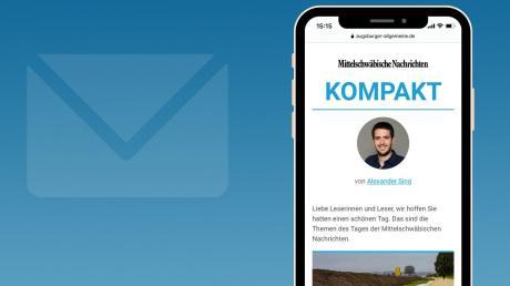 """In Zukunft erhalten Sie über unsere NewsApp von Montag bis Freitag jeden Abend unseren neuen lokalen Newsletter """"Krumbach Kompakt""""."""