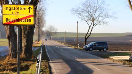 Die Straße von Deisenhausen nach Ingstetten wird erneuert und ausgebaut. Parallel zur Straße soll ein Rad- und Fußweg angelegt werden.