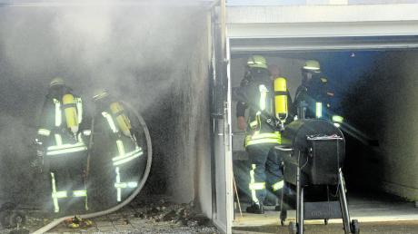 Ein Schaden in einer Höhe von rund 10000 Euro entstand bei einem Brand in Thannhausen.