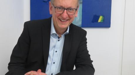 Auch der Blick in die Thannhauser Stadtgeschichte ist wichtig: Carsten Pothmann, Bürgermeisterkandidat der Grünen.