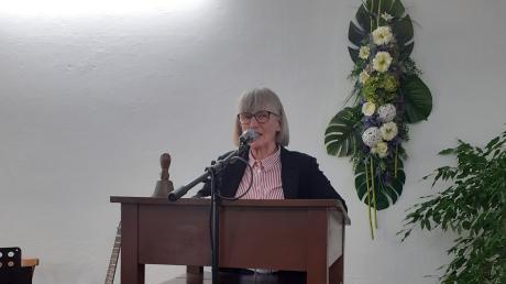 Johanna Herold, Seniorenbeauftragte des Landkreises, informierte beim Treffen der Günztal-Senioren.