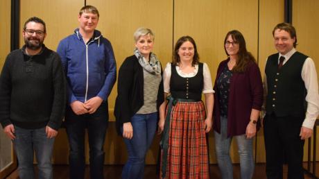 Gruppenfoto beim Zimmerstutzen-Schützenverein Oberegg: (von links) Robert Rogg, Dominik Schäfer, Petra Birle, Sonja Weigele, Gaby Blessing und Harald Seitz.