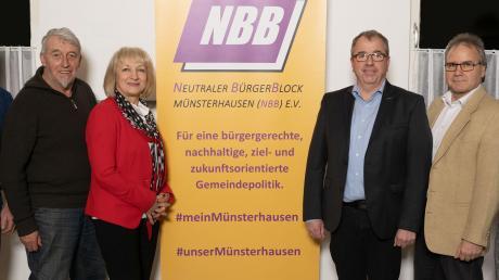 Unser Bild zeigt von links: Beisitzer Erich Veit und Artur Vogele, Kassiererin Renate Werner, 1. Vorsitzender Erwin Haider, Schriftführer Jürgen Bier und 2. Vorsitzender Joachim Pichler.