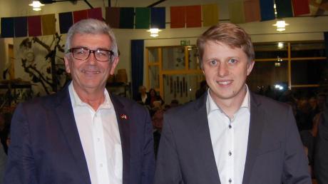 Die Thannhauser Bürgermeisterkandidaten in der Stichwahl: Alois Held (CSU) und Peter Schoblocher (links). Held war in der Stichwahl klar erfolgreich.