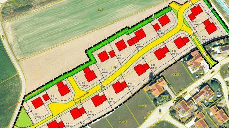 Die drei neuen Baugebiete, hier das in Obergessertshausen, sind nun beschlossene Sache. Bei der jüngsten Gemeinderatssitzung in Aichen ging es um die Ausschreibung der Erschließung, die 2021 abgeschlossen sein soll.