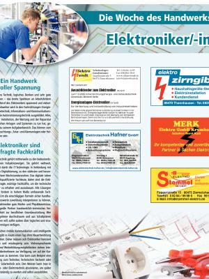 Woche des Handwerks: Elektroniker
