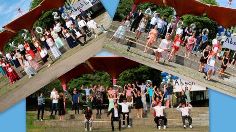 Die Abschlussklassen 10 a, b und c der Krumbacher Realschule.