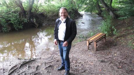 Wenn Harald Lenz über seine Tätigkeit als Bürgermeister in Ebershausen spricht, dann schwärmt er immer wieder auch von der idyllischen Landschaft wie hier an der Gutnach. Harald Lenz ist der erste Bürgermeister im Landkreis, der aus den Reihen der Grünen kommt.