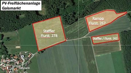 Der Aletshausener Gemeindeteil Gaismarkt liegt zwischen Wiesen und Wäldern. Eine 8,59 Hektar große Photovoltaik-Anlage würde das Landschaftsbild stören, war die einheitliche Meinung bei der jüngsten Gemeinderatsitzung.