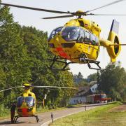 Mit zwei Rettungshubschraubern wurden die Mädchen in Krankenhäuser gebracht.