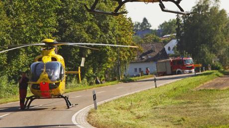 Mit einem Rettungshubschrauber wurde der Jugendliche in eine Klinik gebracht.