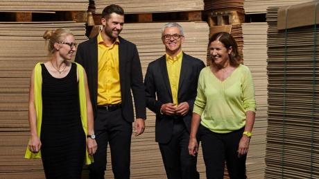 Das Familienunternehmen Transpack mit (von links) Raphaela, Leopold, Klaus und Waltraud Nuscheler hat in Neuburg eine geeignete Fläche für einen Firmenneubau gefunden.