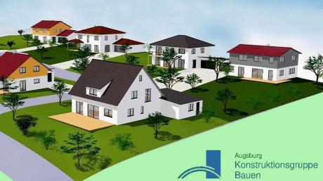 """So sieht die endgültige Einteilung des Baugebietes """"Weiherweg"""" in Aichen aus. Die Satzung zur Bebauung dieses Areals wurde nun beschlossen. Nach der Genehmigung können dort neun Einzelhäuser errichtet werden."""