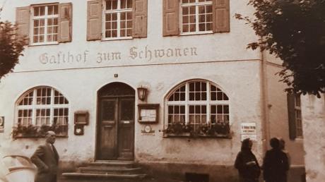 """Im Schwanenwirt in der heutigen Bahnhofstraße befanden sich die """"Lichtspiele Thannhausen"""", das erste Kino in der Mindelstadt."""