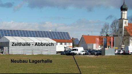 Die Firma Energeticum beabsichtigt den Bau einer großen Lagerhalle und mehrerer Garagen an der St.-Leonhard-Straße in Balzhausen.