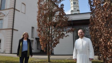 Pater Christian Hamberger organisiert zusammen mit der evangelischen Pfarrerin Agnes Weishaupt am Ursberger Ringeisen-Gymnasium die Schulseelsorge.