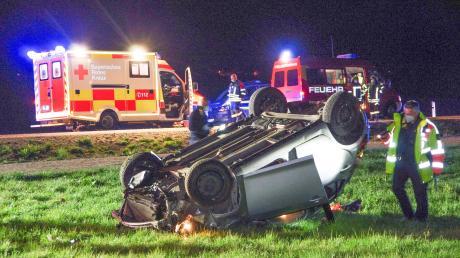 Auf der Münsterhauser Umgehungsstraße überschlug sich das Fahrzeug eines 23-Jährigen.