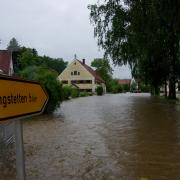 Beim epochalen Hochwasser von 2013 glich der Ortskern von Oberwiesenbach einem See.