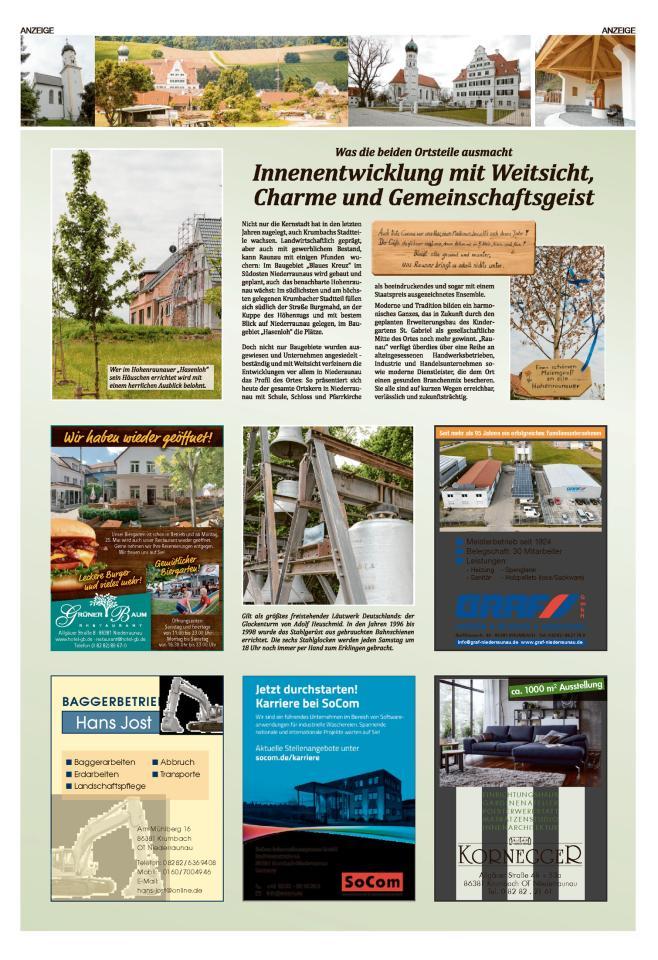 Leben in Nieder- und Hohenraunau