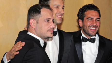 Top-Schauspieler auf dem Filmball:Moritz Bleibtreu (l-r), Florian David Fitz und Elyas M'Barek. Foto: Ursula Düren