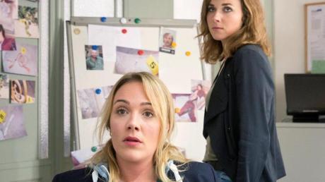 Frauenpower in Dresden: De Kommissarinnen Henni Sieland (Alwara Höfels) und Karin Gorniak (Karin Hanczewski).