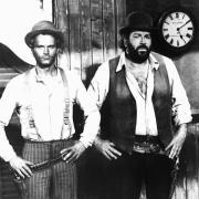 «Vier Fäuste für ein Halleluja»:Terence Hill und Bud Spencer brachten den Spaß in den Italo-Western. Foto: dpa